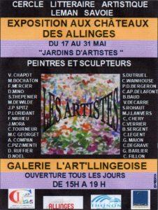 Liste des exposants présents à l'Art'llingeoise en mai 2019