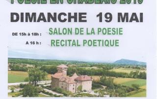 Affiche du récital de poésie au château d'Avully à Benthone