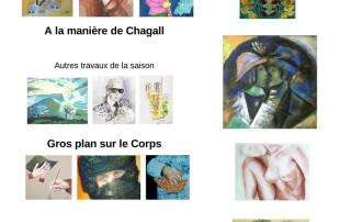 Affiche de l'exposition organisée par l'atelier Arts plastiques du CLALS des allinges