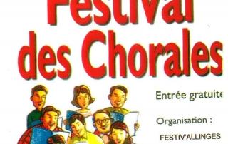 Affiche pour le festival des chorales de dimanche 26 janvier 2020 organisée par le Festiv'Allinges et le CLALS