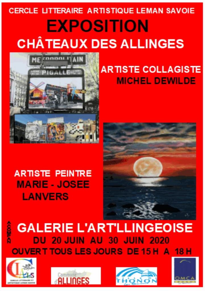 Affiche annonçant la première exposition de la saison 2020 du CLALS