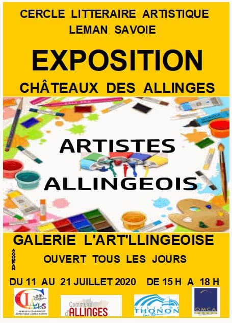 Affiche de l'exposition des artistes du CLALS du 11 au 21 juillet 2020