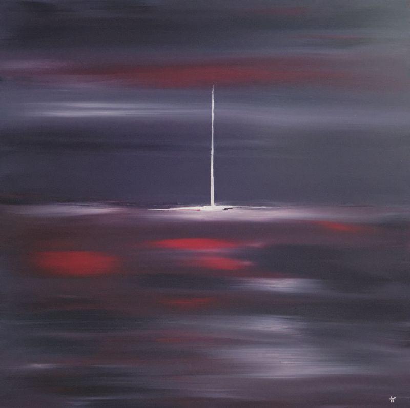 """Tableau intitulé """"Hyper Espace"""", peinture acrylique sur toile réalisé par l'artiste Ivan Totoche du CLALS"""