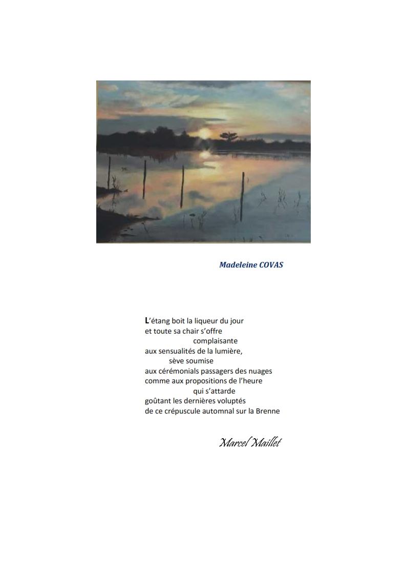 Fiches poème et peinture de l'événement Couleurs poétiques organisé par le Clals